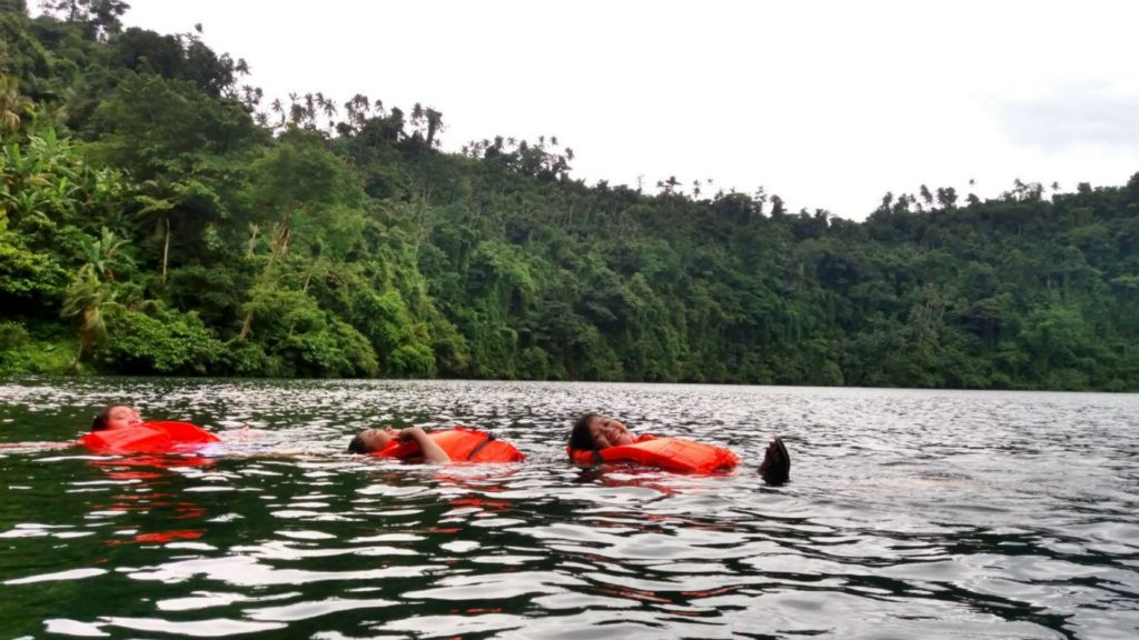 swimming in pandin lake