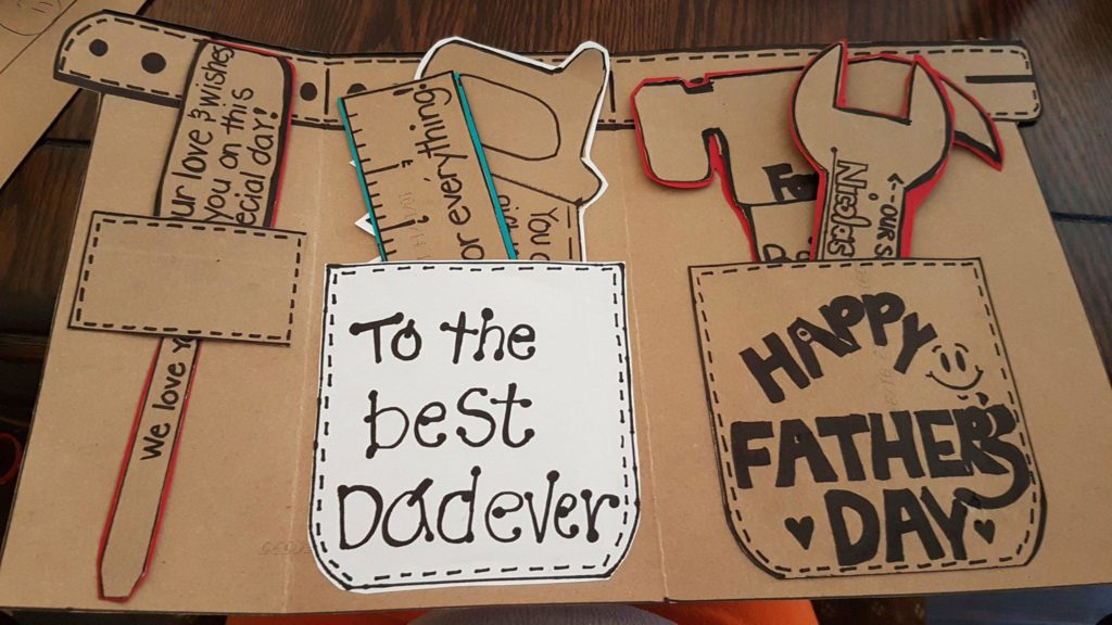 Gift card for Father's Day tools