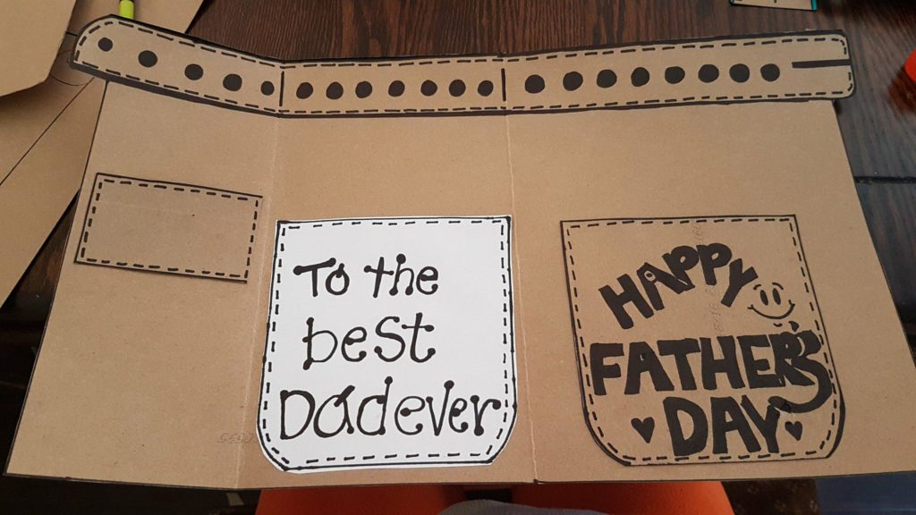 Gift card for Father's Day pockets