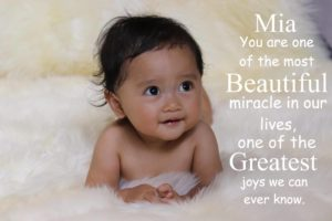 Baby Mia's First Year Reflection