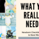 Must Have Newborn Essentials Checklist: What You Really Need